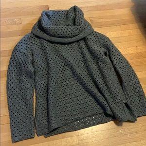James Perse Grey Turtleneck Sweater